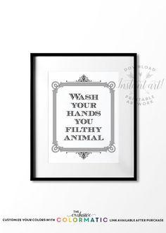 Genial Funny Bathroom Wall Decor, PRINTABLE Art, Please Seat Yourself Sign, Kids Bathroom  Decor, Funny Bathroom Signs, Bathroom Art, Washroom Sign | Funny Bathroom  ...