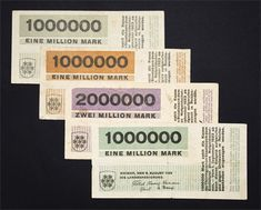 "In 1923, The Bauhaus designer Herbert Bayer  was called  to design almost from one day to another a series of Notgeld or emergency money.The inflation demanded currency ranging on the ""millions"". ""Virtually overnight, Bayer created a full range of banknotes with a full display of modernist design representative of the Bauhaus style of minimalism, functionality, geometric exactitude, beauty, grid arrangement and modern. They were issued two days later with the ink still wet."