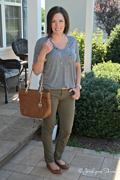 Fashion Over 40: How to transition your wardrobe from summer to fall featuring cognac ballet flats from @officialpayless.  #ad #solestyle #payless