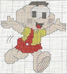 Lindos gráficos para bordar em ponto cruz a divertida Turma da Mônica . Tem gráficos da Mônica, Magali, Cebolinha e o Cascão para borda...