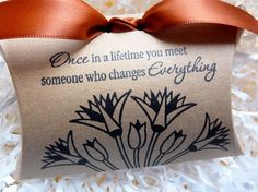 Wedding Shower Once In A Lifetime Pillow Favor by ifiwerecards