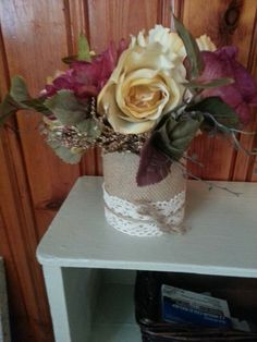 Made this vase out of an old formula can =]