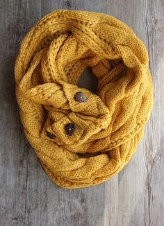 NEW Lightweight Perfect Scarf ™ - Mustard Fall Scarf, Scarf with buttons, Scarves, Back To School by Northernly on Etsy
