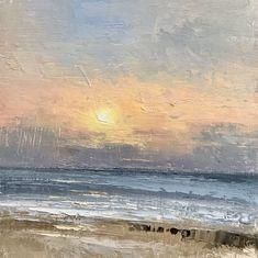 Hunstanton East Coast, Seaside, Oil On Canvas, Waves, Frame, Artist, Artwork, Paintings, Outdoor