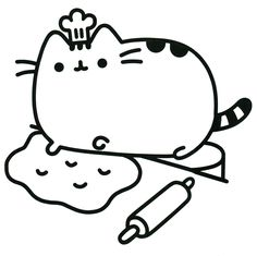 Freebie Pusheen Cat Coloring Page Coloring In Therapy