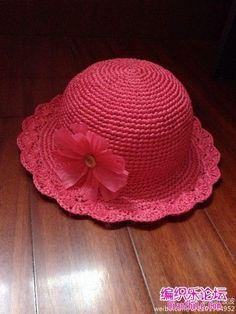 Your place to buy and sell all things handmade - Her Crochet Crochet Summer Hats, Crochet Cap, Crochet For Kids, Free Crochet, Baby Girl Crochet, Crochet Baby Clothes, Crochet Baby Hats, Knitted Hats, Diy Crafts Crochet