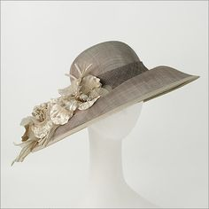 Taupe Synamay Hat Kentucky Derby Hats