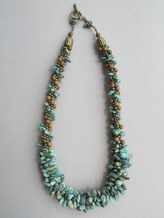 Green Goddess Kumihimo Necklace by NoGlitzNoGlory Beaded Earrings, Beaded Jewelry, Collar Hippie, Bijoux Diy, Bead Crochet, Jewelry Patterns, Artisan Jewelry, Jewelry Crafts, Beadwork