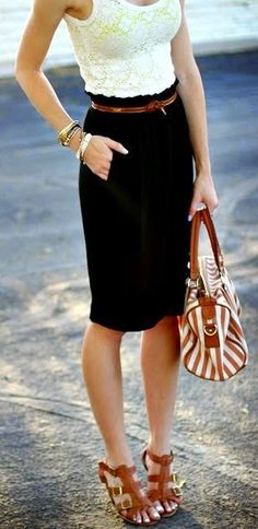 Pencil skirts are so easy and make any outfit look put together