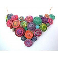 Nyaklánc - Spirál kollekció - 0205 Spiral, Crochet Earrings, Jewelry, Jewlery, Jewels, Jewerly, Jewelery, Accessories