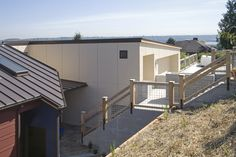Choice Construction, Remodel, Custom Homes, Gig Harbor, Home Exterior, Modern, Front Entry, Hillside Stairs, View