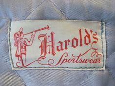 Harold's Sportswear - vintage label