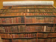 1 Metre Vintage Library Books Bookshelf Photo Digital Printed Full Colour Designer Cotton Curtain Upholstery Fabric: Amazon.co.uk: Kitchen & Home