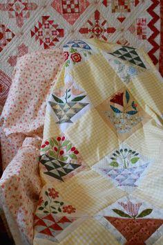 "Supergoof Quilts: Hoi Bloemenmand-Meisje"""