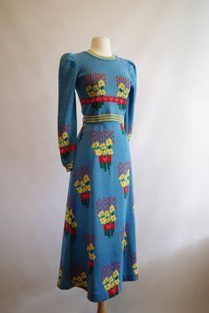 1970s •~• Betsy Johnson Alley Cat knit dress