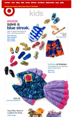 create a picture with product layout! // Fun Summer Email Blast Design Inspiration - Target