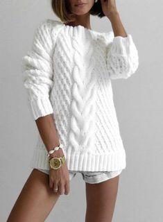 Diy Crafts - Knitt cardigan knitting coat cardigan with braidswarm Knitwear Fashion, Knit Fashion, Sweater Fashion, Casual Sweaters, Sweaters For Women, Knit Sweater Outfit, Casual Work Outfits, Crochet Clothes, Diy Crafts