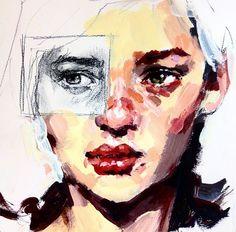 Elly Smallwood, acrylic sketch on paper