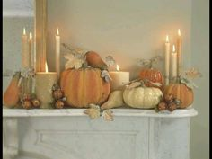 fall mantle decor cream and creamsicle colors Halloween Mantel, Halloween House, Fall Halloween, Classy Halloween, Dinner Party Decorations, Thanksgiving Decorations, Seasonal Decor, Thanksgiving Mantle, Autumn Decorating