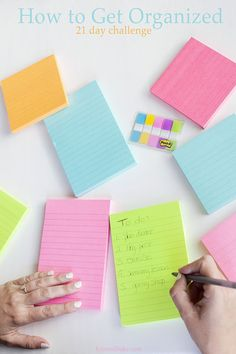 How to Get Organized. 21 day organization challenge by @postitproducts #ad