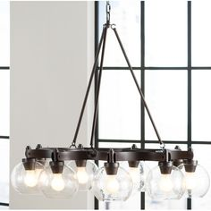 479. 3' wide can turn up or down, has smaller ones   thought could swing hang maybe Found it at AllModern - Fulton 9 Light Chandelier