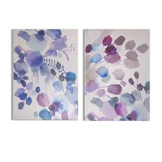 Graham & Brown Expressive Blooms Printed Canvas, Set of 2 - Blue Framed Wall Art, Canvas Wall Art, Canvas Prints, Graham Brown, Home Decor Wall Art, Flower Petals, Decoration, Serenity, Wrapped Canvas