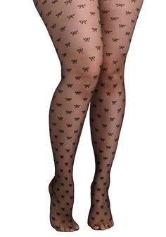 Give It a Bow Tights in Plus Size. Go ahead - slip into these bow-printed tights and watch as your look enchants with ease! Lady Stockings, Silk Stockings, Sock Leggings, Tight Leggings, Nylons, Designer Tights, Cool Tights, Plus Size Tights, Ladylike Style