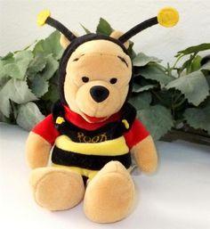 Mini Winnie the Pooh Bumble Bee Costume Stuffed Plush Bean Bag Animal Bear