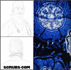 Green Scrubs - Tieback Cap - Indigo