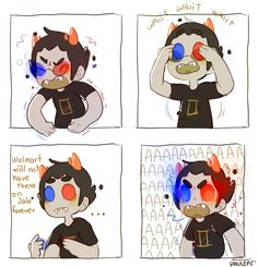"Psionic "" It's funny to me because seriously how he never forget to remove his glasses? Homestuck Sollux, Homestuck Funny, Homestuck Comic, Homestuck Characters, Home Stuck, Davekat, Cartoon Games, Amazing Drawings, Nerdy"