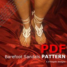 Barefoot Sandals Pattern BUTTERFLY