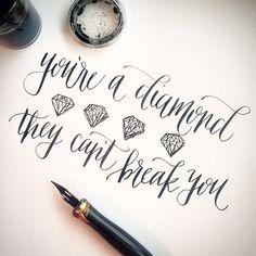 """""""Hey hey, international women's day! Here's to all you strong women out there! #internationalwomensday #calligraphy"""""""