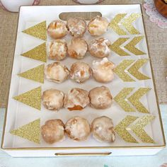 The donut holes at this wonderful boho birthday party are awesome! See more par. - The donut holes at this wonderful boho birthday party are awesome! See more party ideas and share - Pink And Gold Birthday Party, 1st Birthday Party For Girls, Golden Birthday, Birthday Diy, Birthday Party Favors, Birthday Ideas, Fourth Birthday, Frozen Birthday, Birthday Gifts