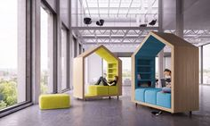Dymitr Malcew's Tree House modules provide privacy in open-plan offices Dymitr Malcew treehouse furniture – Inhabitat - Sustainable Design Innovation, Eco Architecture, Green Building