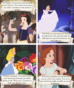 What your favourite Disney female says about you - bah, these are all me as well. Guess I love all Disney women!