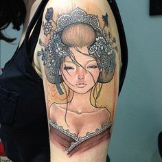 Awesome tattoo on the arm of this girl. #tattoo #tattoos #ink