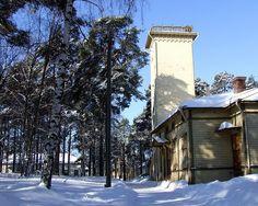 laboratoriorakennus vesitorneineen Finland, Snow, Outdoor, Outdoors, Outdoor Living, Garden, Eyes