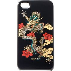 Vivienne Tam Lacquered Dragon iPhone 4 Case (2,310 MXN) ❤ liked on Polyvore featuring accessories, tech accessories, phones, phone cases, fillers, electronics, case, tech, mobile and vivienne tam