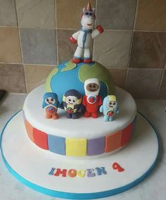 Go jetters cake 2 Year Old Birthday Party, Harry Birthday, 4th Birthday Parties, Birthday Ideas, 4th Birthday Cakes, 2nd Birthday, Go Jetters, Globe Cake, Kids Party Themes