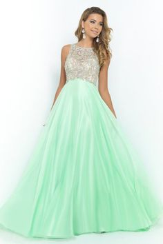 2015 New Arrival  Prom Dresses A Line Scoop Sweep/Brush Chiffon