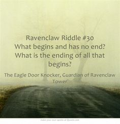 Ravenclaw Riddle #30 Comment if you think you know the answer.