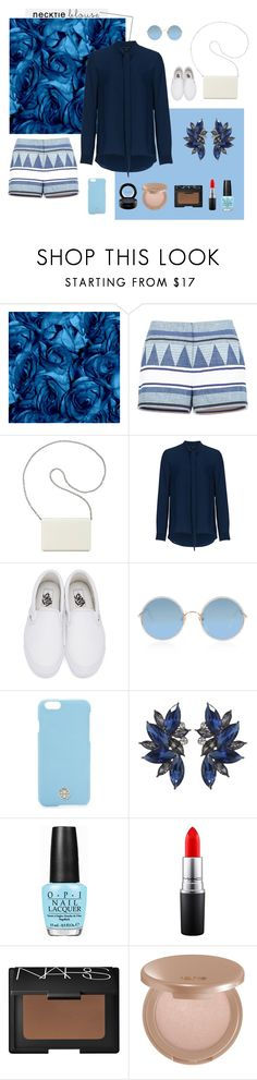 """Untitled #17"" by k-elma ❤ liked on Polyvore featuring BCBGMAXAZRIA, Nine West, French Connection, Vans, Sunday Somewhere, Tory Burch, OPI, MAC Cosmetics, NARS Cosmetics and tarte"