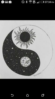 The yin yang is a perfect example of balance because the rounded part of the black side matches up with the pointed part of the white side and vice versa. The meaning of yin yang also shows balance. Yin Yang Tattoos, Tribal Tattoos, Cool Tattoos, Tatoos, Small Tattoos, Ying Y Yang, Yin Yang Art, Yin And Yang, Bild Tattoos