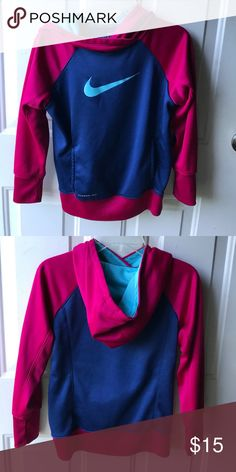 Nike youth hoodie Great condition! Girls youth medium. Nike Shirts & Tops Sweatshirts & Hoodies
