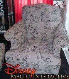 Disney Mickey Mouse Chair Ottoman Unique and Rare Excellent Condition Casa Disney, Disney Diy, Disney Crafts, Disney House, Downtown Disney, Mickey Mouse Chair, Mickey Mouse House, Disney Mickey Mouse, Mickey Love