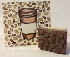My first attempt at Stampin' Up!'s Undefined Stamp Carving Kit.