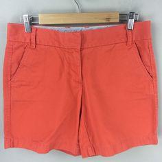 J Crew Women's Orange Shorts Sz 6   eBay