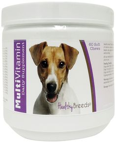 Healthy Breeds Multi-Vitamin Soft Chews,  Jack Russell Terrier  / 60 Count *** Learn more by visiting the image link. (This is an affiliate link and I receive a commission for the sales)