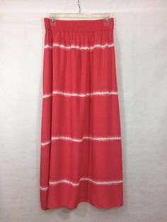 NEW CHICO'S Size 0 4/6 $109 TIE-DYE MAXI SKIRT Coral Womens Bohemian Boho NWT #Chicos #Maxi