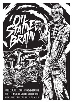 Oil Stained Brain custom motorcycle show.